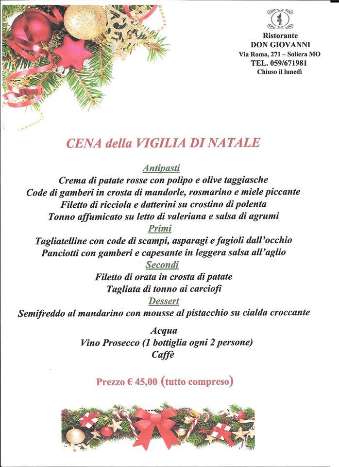 Menu Di Natale A Roma.Cena Della Vigilia Di Natale By Ristorante Don Giovanni Il